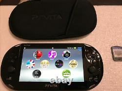 PlayStation PS Vita Slim 2001 3.73FW Good Condition Blaze Blue Game And Case