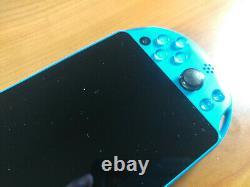PlayStation PS Vita Slim LCD 2000 Aqua Blue 3.60 FW Good Condition 256GB