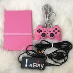 Playstation 2 Console Pink PS2 Japan GOOD CONDITION With Original ControlIer