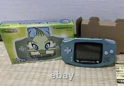 Pokemon Center Console Gameboy Advance Celebi Green BOXED GOOD CONDITION