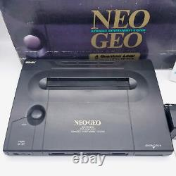 Rare SNK NEO GEO AES Console System Complete Set Boxed Very Good Condition