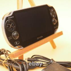SONY PS Vita PCH-1000 / 1100 Black Model OLED Wi-Fi with Charger Good Condition