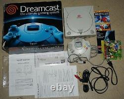 Sega Dreamcast White System Console Complete in Box #24 GOOD Shape