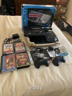 Sega Genesis Model 1 Sega CD 2 Bundle! Good Condition! Works! Complete! With Box