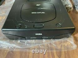 Sega Saturn Console / System + Cables + Controller + Box - Very Good Condition