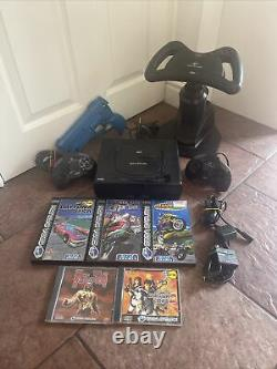Sega Saturn console bundle lot Full Set Up Tested Good Condition With Games