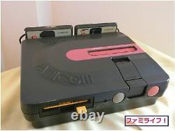 Sharp Twin Famicon Console System AN-500B Black Belt Disk Good Condition ER