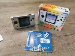 Snk Neo Geo Pocket Colour Platinum Silver Handheld Console Good Condition