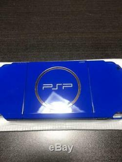 Sony PSP 3000 White Blue with Charger Box Good Condition Game Console from JP FS