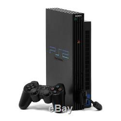 Sony PlayStation 2 Fat Black Console Very Good Condition, TESTED