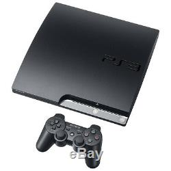 Sony PlayStation 3 Slim 160GB Charcoal Black Console Very Good Condition