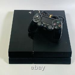 Sony PlayStation 4 500GB Jet Black Console Good Condition