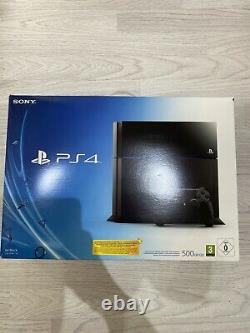Sony PlayStation 4 500GB Jet Black Console Same Day Dispatch Good Condition