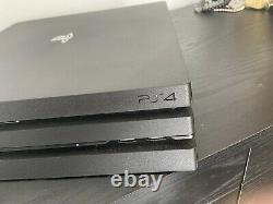Sony PlayStation 4 PS4 Pro 1TB Black Console Very Good Condition