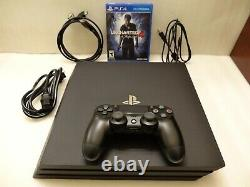 Sony PlayStation 4 PS4 Pro 1TB Console Black Very Good Condition