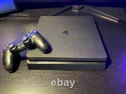 Sony PlayStation 4 PS4 Slim 1TB Console Jet Black very good condition