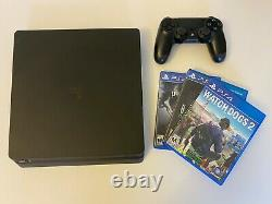 Sony PlayStation 4 PS4 Slim 500GB Black (Used, Very Good Condition) + 3 Games