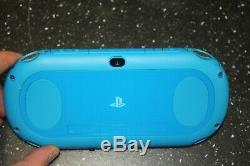 Sony PlayStation PS Vita Slim PCH-2001 Blue Used Very Good Condition