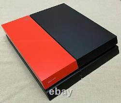 Sony Ps4 Playstation 4 500gb Black/orange + 1 Game Works Perfect Good Condition