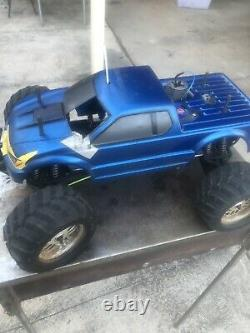Tamiya Tnx 1/8 Nitro Monster Truck 2 Speed Good Condition Traxxas Start System
