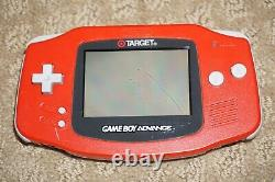 Target Red Nintendo Game Boy Advance System Console GOOD Shape