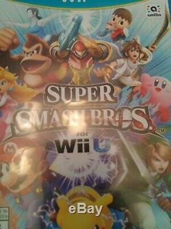 Wii U console black 32GB bundle with 9 games used in very good condition