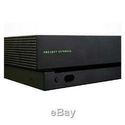 Xbox One X Project Scorpio Edition 1TB Console Black Very Good Condition