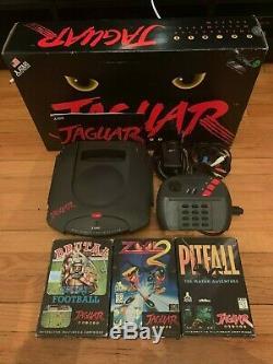 Atari Jaguar Complet En Boite + 3 Jeux, Très Bon État