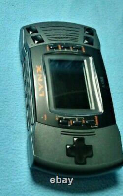 Atari Lynx Modèle 2 Console Boîte 4 Jeux Adaptateur Original Bon État