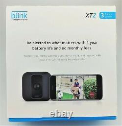 Blink Xt2 Extérieur / Intérieur De Sécurité Hd Gratuit Fil 3 Système De Caméra En Boîte Bonne Forme