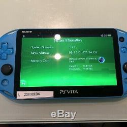 Bonne Condition Ps Vita 2000 Pch-2000 Bleu Sony Playstation