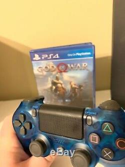 Bonne Condition! Sony Ps4 Pro 1tb (god Of War + Blue Crystal Contrôleur Inclus)