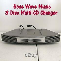 Bose Système De Musique Wave 3-disc Multi-cd Entièrement Testé, Bon État
