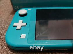 Boxed Nintendo Switch Lite Blue Teal 32 Go Handheld Gaming Console Bon État
