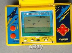 Casio Game & Watch Submarine LCD Bataille Seizième 330 Bon État De Travail Complet Voir