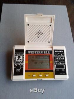 Casio Game & Watch Western Bar LCD Seizième 300 Très Bon État De Travail Complet Voir