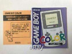 Console Game Boy Color Pokemon Center, 3 Ans D'anniversaire Avec Box Bon État