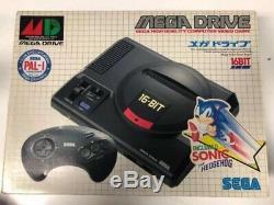Console Mega Drive Asiatique Md1 + Pad + Sonic Jeu En Boîte Bon État