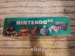 Console Nintendo 64 Complète En Box Cib Bon État Avec Manuel N64 Testé