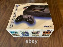 Console Sega Saturn / Système + Câbles + Contrôleur + Boîte - Très Bon État