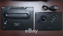 Console Snk Neo Geo Aes Pow-3 En Bon État Système D'importation Au Japon Vendeur Américain