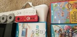 Console Wii Bundle 32g U Utilisé En Bon État Avec 15 Jeux + 2 Téléchargés