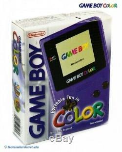 Couleur # Console Gameboy Violet / Violet / Raisin Cib, Boxed Très Bon État