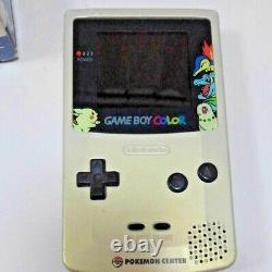 Game Boy Couleur Pokemon Center Édition Limitée Avec Boxed Bon État