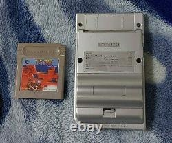 Gameboy Light Silver Mgb-101 + Tetris Bon État