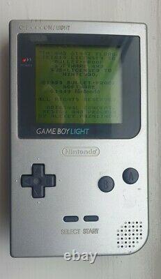 Gameboy Lumière Silver Mgb-101 Très Bon État