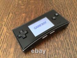 Gameboy Micro Console Black Nintendo Japon Très Bon État Boxed Gbm-05