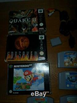 Grand Nintendo 64 N64 Console Bundle 21 Jeux Bon Etat P & P