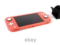 Interrupteur Nintendo Console Lite Coral Pink Système Portatif Bon État Grade B