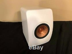 Kef Ls50 Système De Musique Sans Fil Blanc Brillant, Disque En Cuivre Bon État. Utilisé